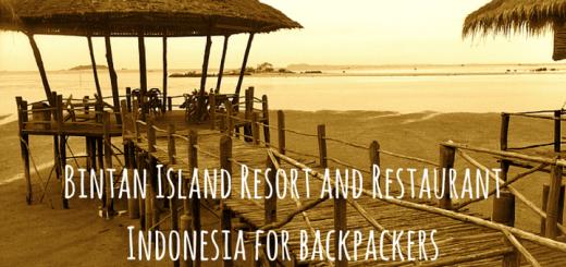 Bintan Island Resort and Restaurant Indonesia for backpackers