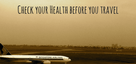 Check your Health before you travel