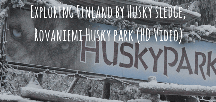 Exploring Finland by Husky sledge, Rovaniemi Husky park (HD Video)