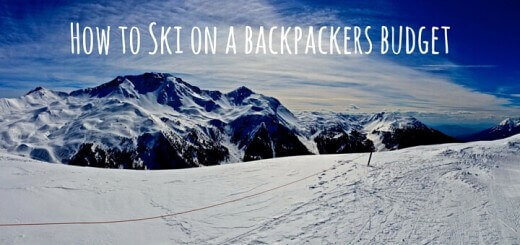 How to Ski on a backpackers budget