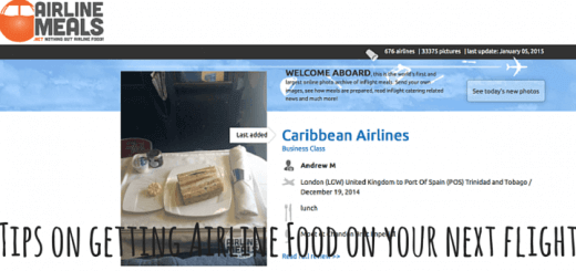Tips on getting Airline Food on your next flight