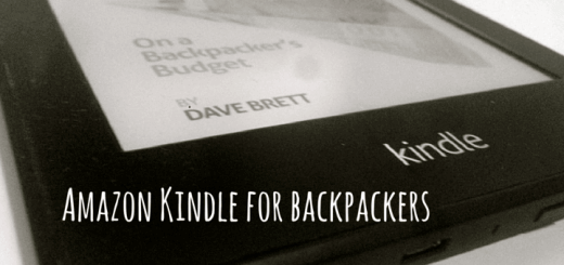 Amazon Kindle for backpackers