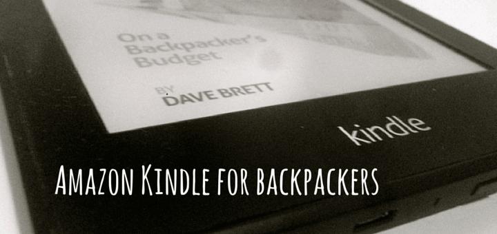 Amazon Kindle for backpackers