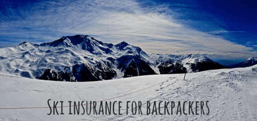 Ski insurance for backpackers
