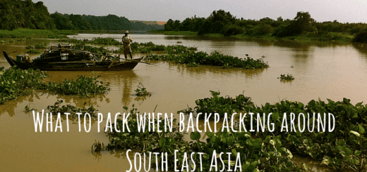 What to pack when backpacking around South East Asia