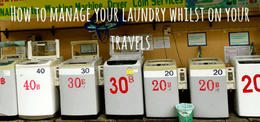 How to manage your laundry whilst on your travels