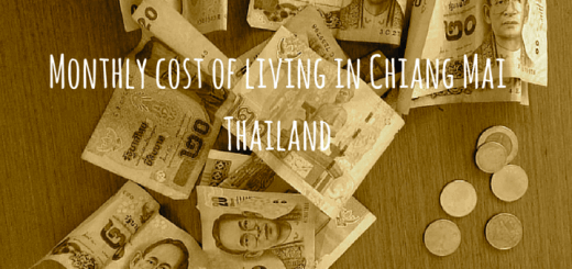 Monthly cost of living in Chiang Mai Thailand