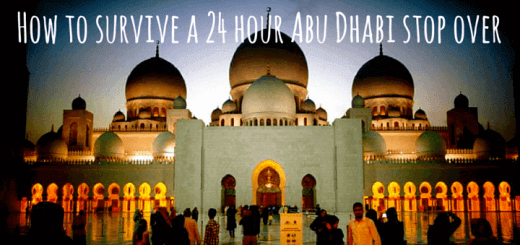 How to survive a 24 hour Abu Dhabi stop over
