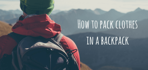 How to pack clothes in a backpack