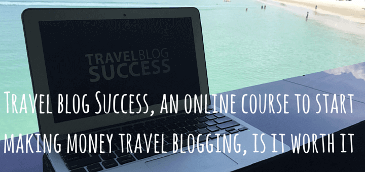 Travel blog Success, an online course to