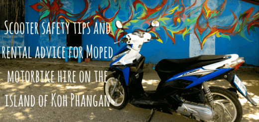 Scooter safety tips and rental advice for Moped motorbike hire on the island of Koh Phangan