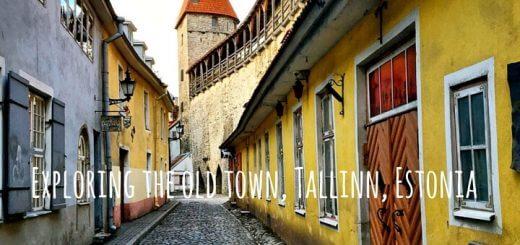 Exploring the old town of Tallinn, Estonia.