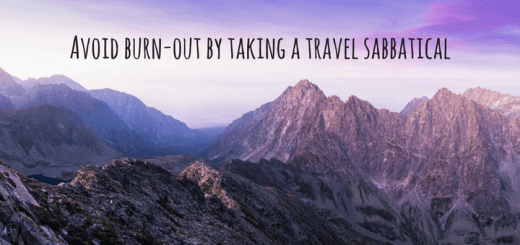 Avoid burn-out and seek adventure by taking a sabbatical