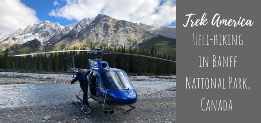 Heli-hiking in Banff National Park, Canada