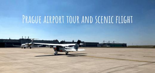 Prague airport tour and scenic flight