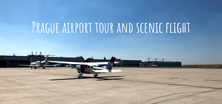 Prague airport tour and scenic flight