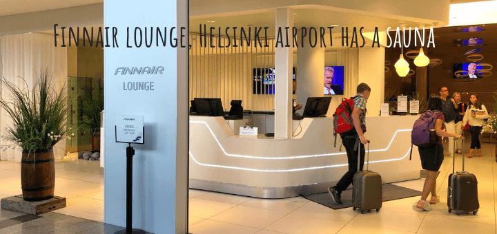 Finnair lounge non-Schengen, Helsinki Vantaa Airport has a sauna