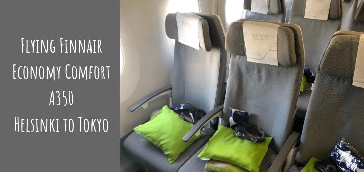 Flying Finnair Economy Comfort A350 Helsinki to Tokyo