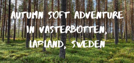 Autumn Soft Adventure in Västerbotten, Lapland, Sweden