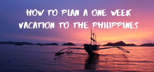 How to plan a one week vacation to the Philippines
