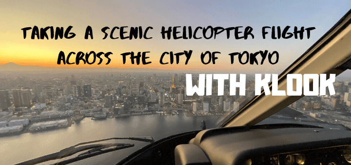 Taking a scenic helicopter flight across the city of Tokyo, Japan with KLOOK